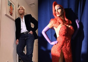 Heidi as Jessica Rabbit & Tyra Banks as Richard Branson!