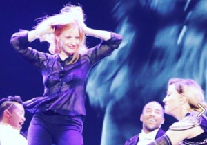 Jessica Chastain Joins Madonna Onstage for a Little Spanky