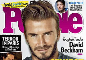 David Beckham Wins People Magazine's Coveted Sexiest Man Alive…
