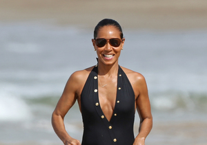 Jada Pinkett Smith Shows Off Curvy Beach Body at 44