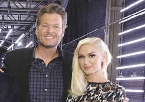 Video! Blake & Gwen Share a Sweet Moment Ahead of 'The Voice' Finale