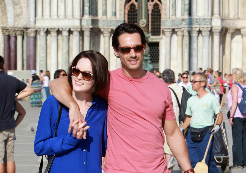 Michelle Dockery Says Goodbye to Fiancé at Memorial Service in Ireland