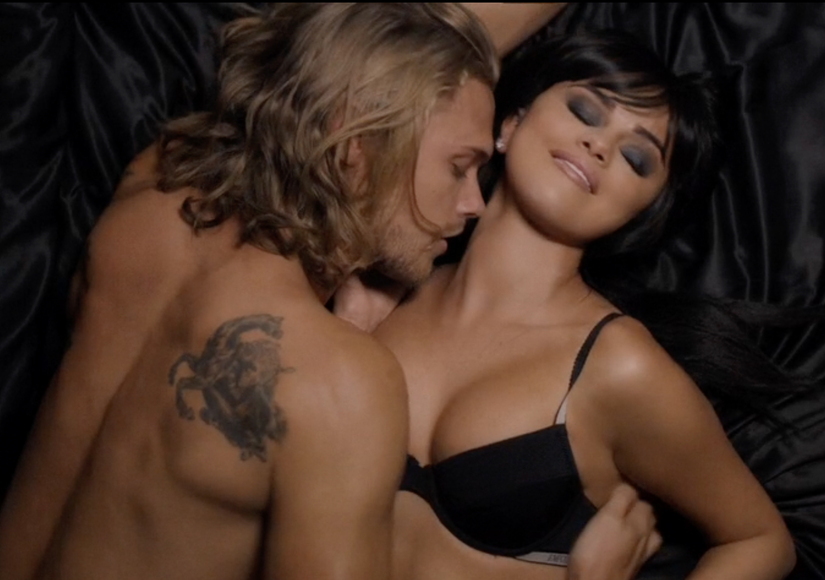 Selena Gomez Strips for Steamy Scene with Hot Shirtless Model in 'Hands to Myself' Video