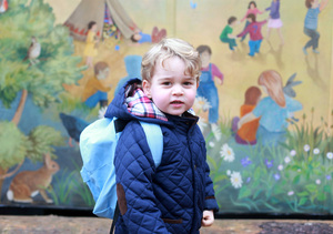 Prince George's First Day of Preschool — See the Cute Pics!