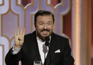Watch! Ricky Gervais Quizzes Kids on Pop Culture