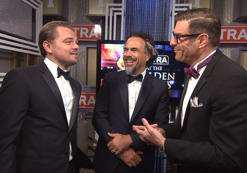 Leo DiCaprio & Alejandro González Iñárritu on Their Golden Globe Wins…