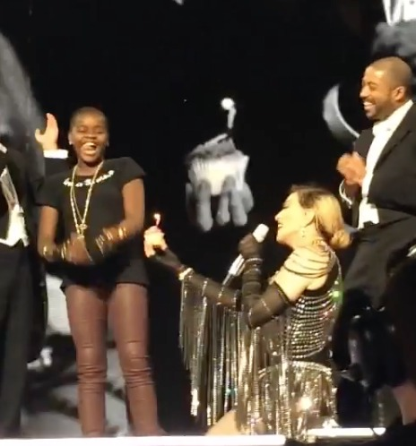 Madonna Sings Happy Birthday to Her Daughter at Miami Concert