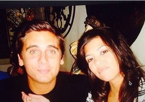 Kourtney Kardashian Posts Cute Flashback Pic of Herself with Scott Disick