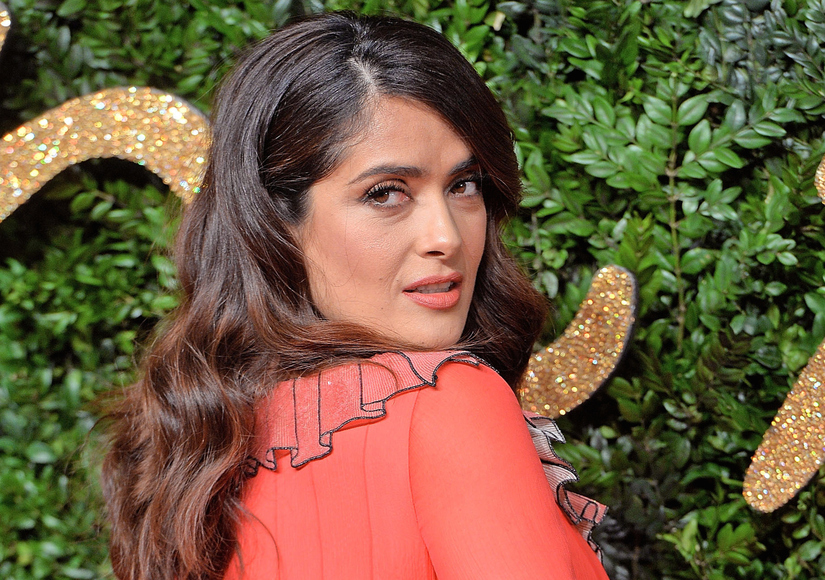 Salma Hayek, Rushed to ER, Wears Racy T-shirt in Pic with Doctors