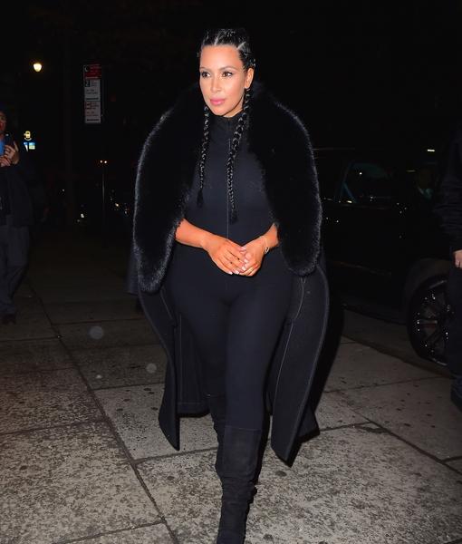 Kim Kardashian Rocks Skintight Jumpsuit 2 Months After Saint's Birth