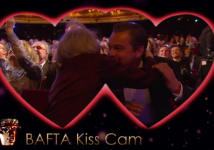 Leonardo DiCaprio & Maggie Smith Caught on Kiss Cam at BAFTA Awards!