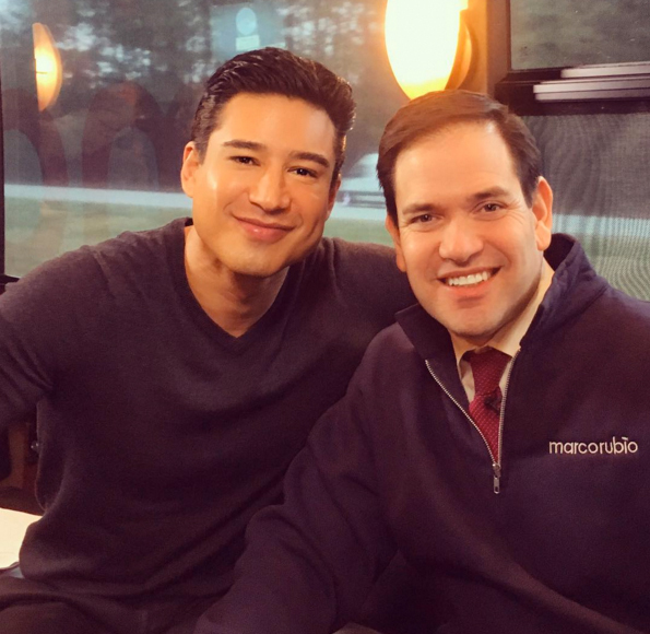 Mario Lopez on the Campaign Trail with Marco Rubio