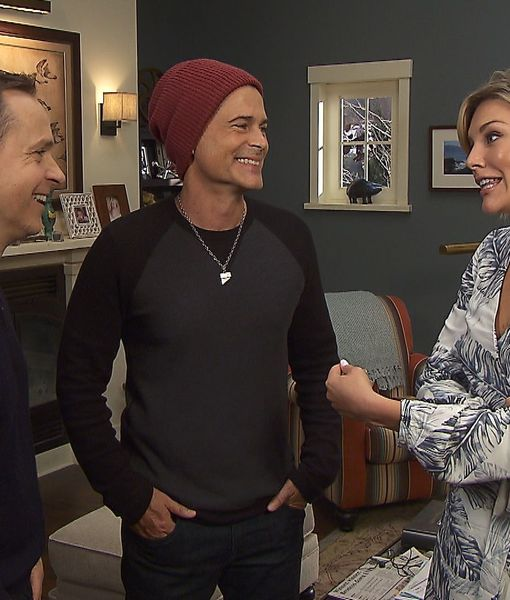 Brothers Chad & Rob Lowe Hang Out with Us on 'The Grinder' Set