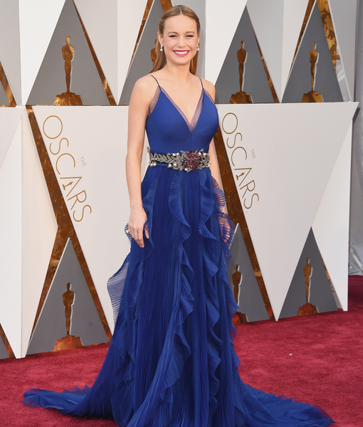 Feeling Blue! Brie Larson Stuns in Gucci Oscars Dress
