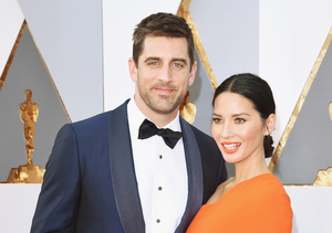 Olivia Munn's Best Accessory at the Oscars — Aaron Rodgers!