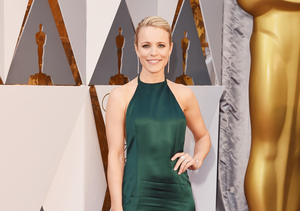Rachel McAdams Leg-Bombs the Oscars Red Carpet in Backless Halter Gown