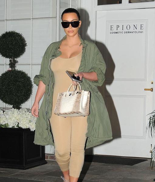 Kim Kardashian Flaunts Post-Baby Figure in Bodysuit after Kanye West's Twitter Feud with Deadmau5