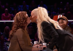 See 'Voice' Contestant Kata Hay Get Tongue-Tied over That Kiss with Christina…
