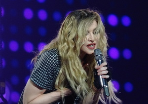 Madonna Gets Emotional Onstage over Son Rocco