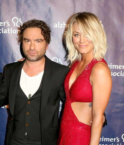 Kaley Cuoco's Boyfriend Karl Cook Cozies Up to Her Ex Johnny Galecki