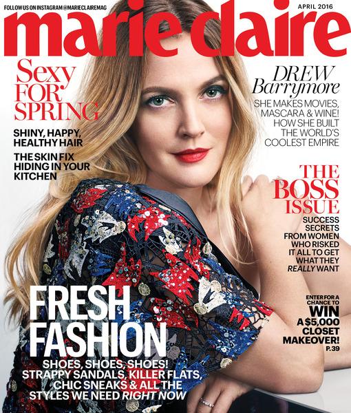 MC April '16 - Drew Barrymore - Newsstand