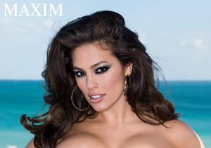 Ashley Graham Goes Nearly Naked for Maxim-um Exposure