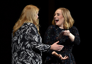 Double Take! Adele Poses with Her Doppelgänger