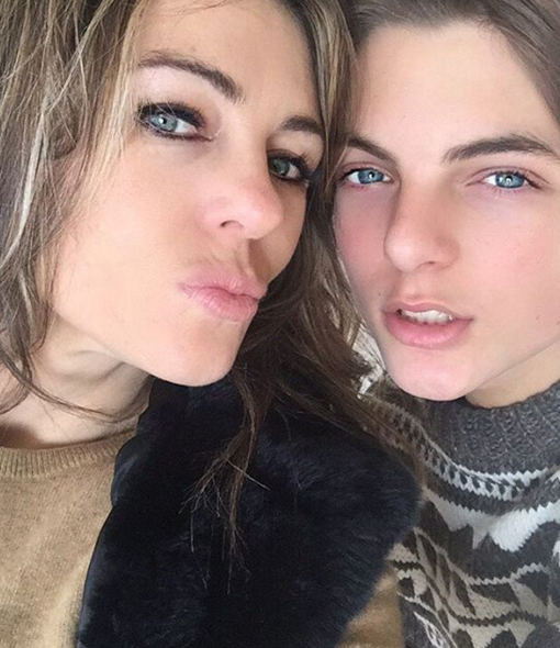Elizabeth Hurley's Look-alike Son Damian Is All Grown Up!