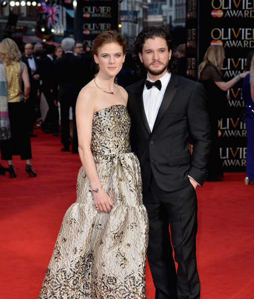 'Game of Thrones' Lovers Kit Harington & Rose Leslie Go Public with Their Relationship at Olivier Awards