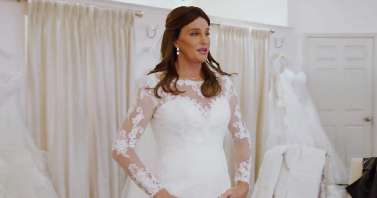 Caitlyn Jenner Wears Wedding Dress Reflects On Past