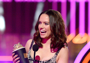 Daisy Ridley Wins for Breakthrough Performance at MTV Movie Awards