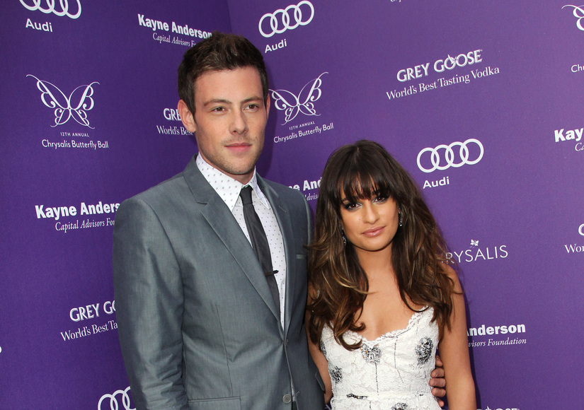 Was Lea Hookup Cory When He Died