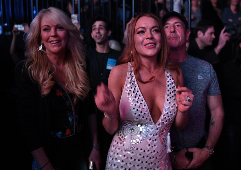 Lindsay Lohan Shows Off Huge Ring After Engagement Rumors