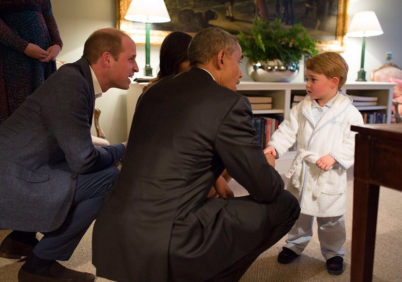 Prince George Meets the Obamas at Private Palace Dinner — See the Cute Pics!