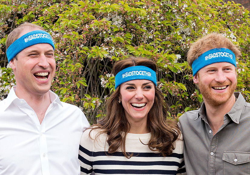 William, Kate & Harry Speak Up for Mental Health, Goof Off for Cameras