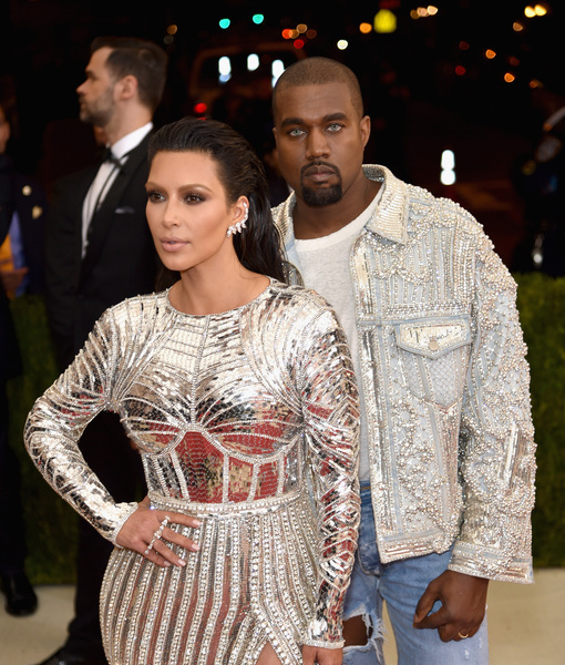 Met Gala Fashion: Kanye Turns Heads in Bedazzled Jacket and Blue Contact Lenses