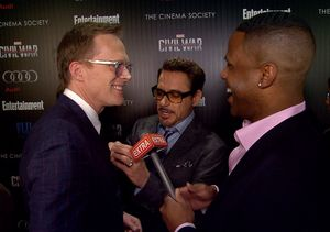 Robert Downey Jr. Crashes Our Paul Bettany Interview, Trash Talking & Tie…