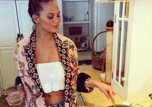 Chrissy Teigen Flashes Flat Tummy on Mother's Day — See Her Post-Baby Bod!