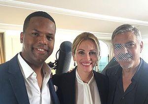 George Clooney & Julia Roberts Dish on Carpool Karaoke and Politics at Her…