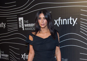 Watch Kim Kardashian Double Down on Nude Selfies at the Webbys!