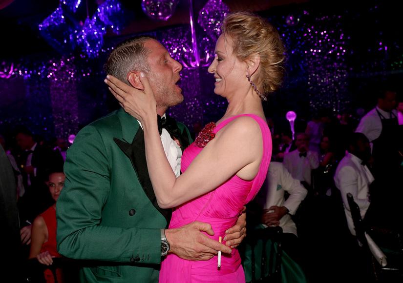Bidder Takes Uma Thurman Charity Kiss Too Far