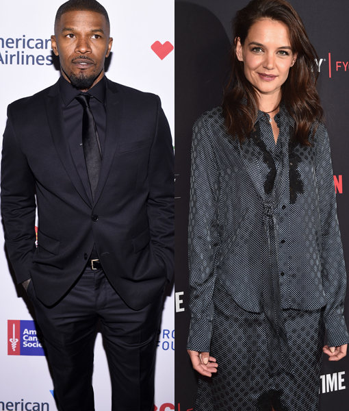 Jamie Foxx celebrates his 50th birthday with Katie Holmes