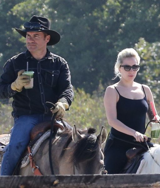 No Car or Bike Needed! Lady Gaga Rides a Horse on Grocery Run