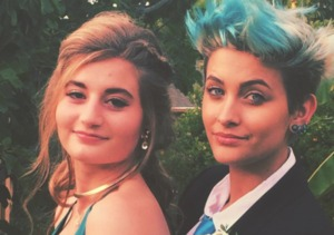 Paris Jackson Dyes Hair to Match Prom Date's Gown