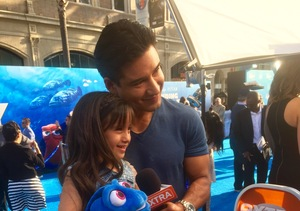 Mario Lopez's Daughter Takes the Mic, Asks About His Shirtless 'Ellen…