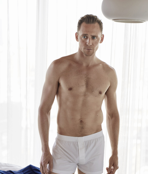 Shirtless Tom Hiddleston Strips Down to His Boxers, Talks About His Naked Butt