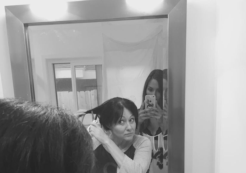 Shannen Doherty Shaves Head as She Fights Breast Cancer