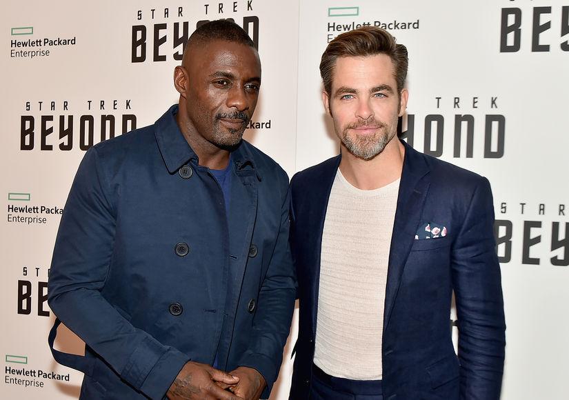 That One Time Idris Elba Gave Chris Pine a Black Eye