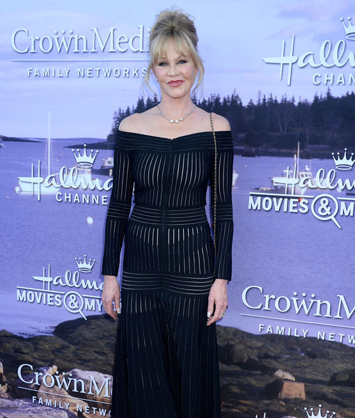 Melanie Griffith Goes Braless in Sheer Dress at 58