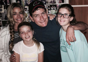 All Grown Up! Charlie Sheen Poses with Ex-Wife Denise Richards & Their Girls